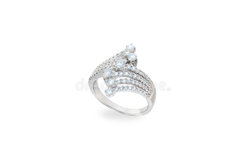White golden ring royalty free stock photography