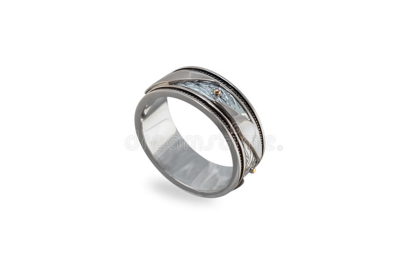 White golden ring royalty free stock images