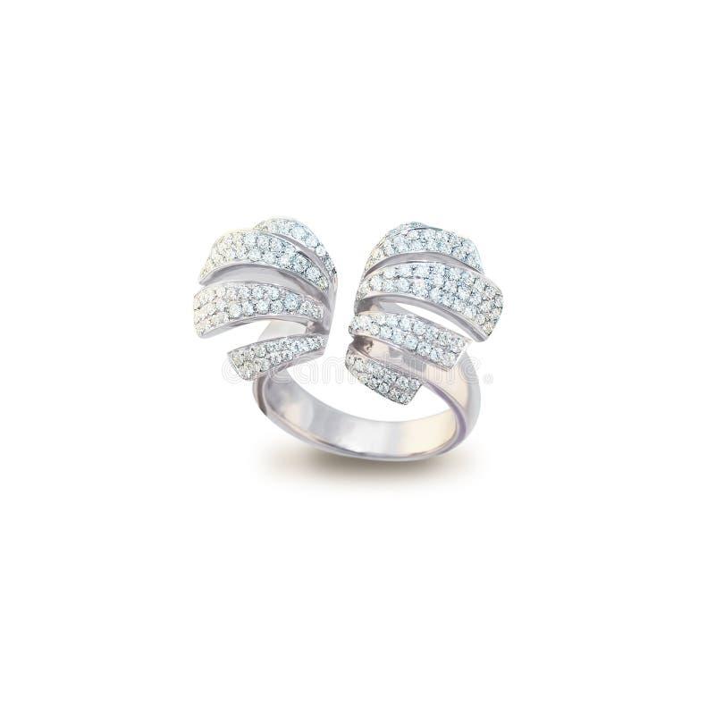 White golden ring stock photo