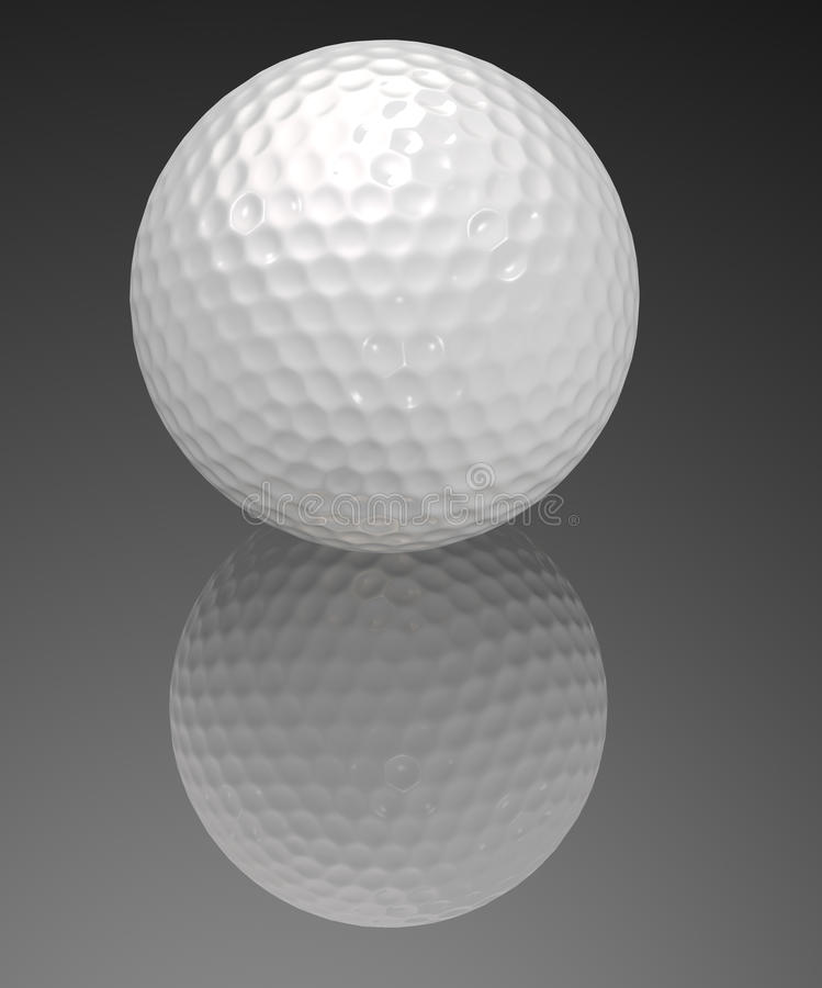 Download White golf ball stock illustration. Illustration of closeup - 23819537