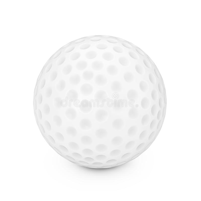 A White Golf Ball. 3d Rendering. A White Golf Ball on a white background 3d Rendering royalty free illustration
