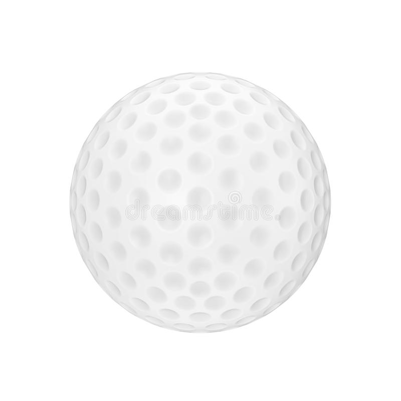 A White Golf Ball. 3d Rendering. A White Golf Ball on a white background 3d Rendering stock illustration