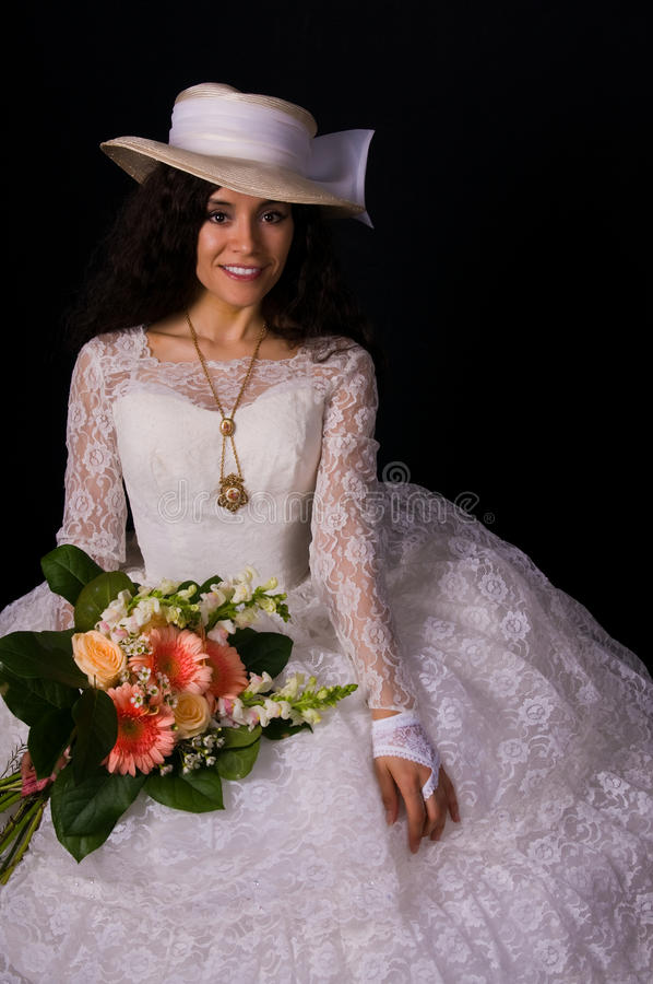 White gown stock image