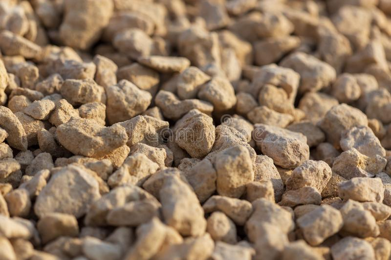White gravel on a construction site as an abstract background stock images