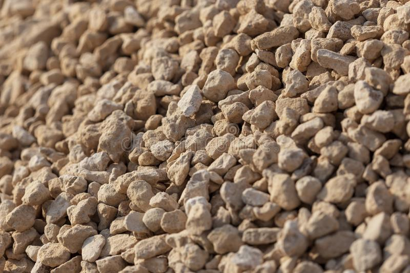 White gravel on a construction site as an abstract background royalty free stock images