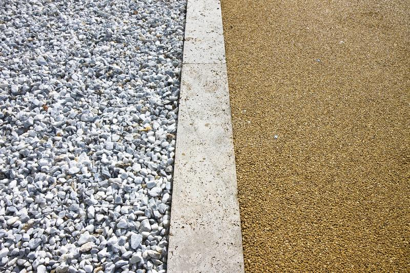 White gravel and stone pavement - image with copy space royalty free stock image