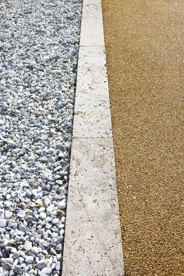 White gravel and stone pavement - image with copy space royalty free stock photos