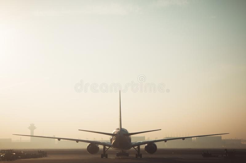 White and Gray Airplane royalty free stock images