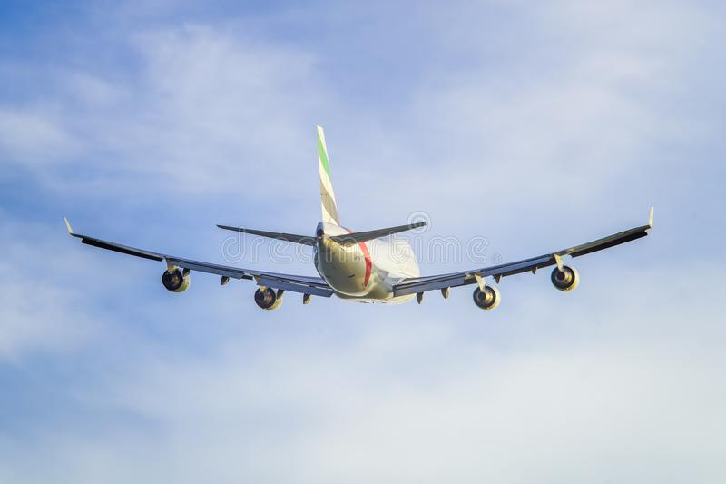 White and Gray Airplane stock photo