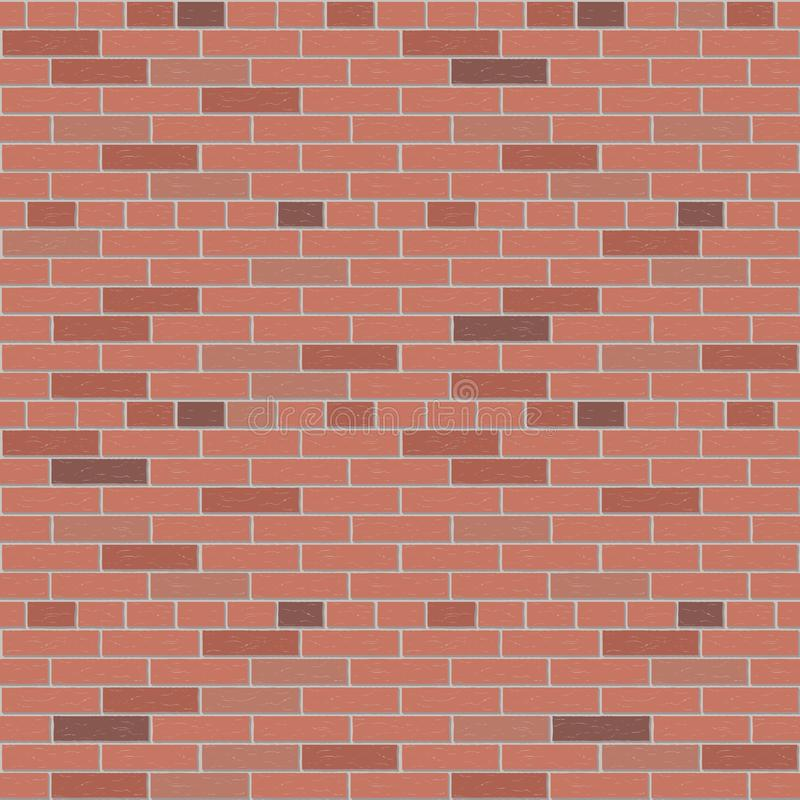Red brick wall vector pattern interior graphic royalty free illustration