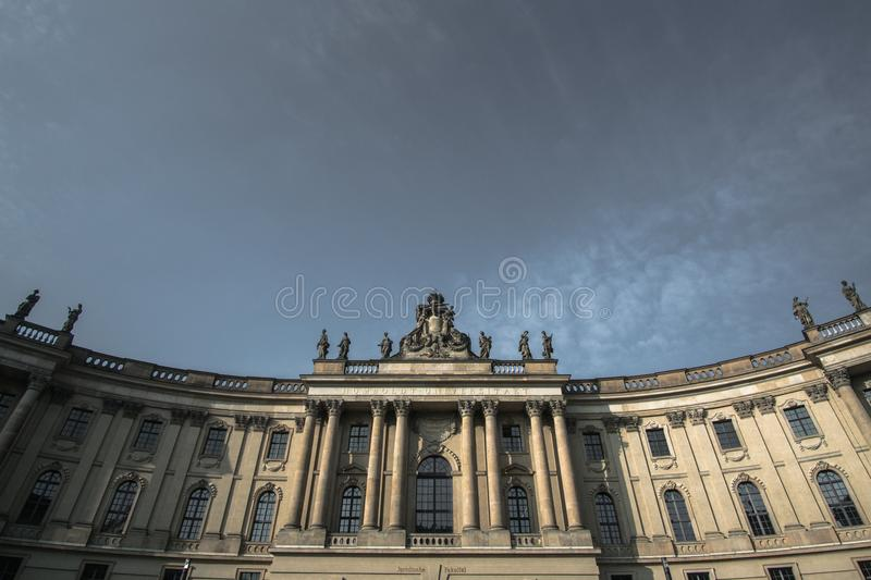 White and Gray Concrete Building Under Gray Daytime Sky stock photography