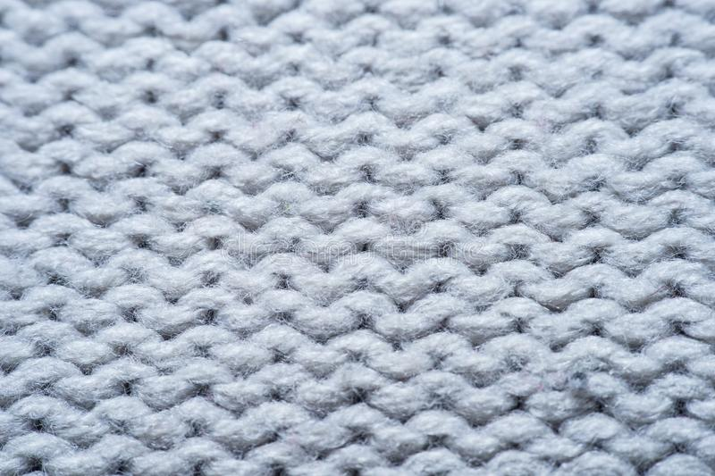 White and gray realistic knit texture seamless pattern. background for banner, site, card, wallpaper. Macro stock photo