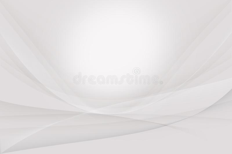 White and gray Silver abstract background. stock illustration