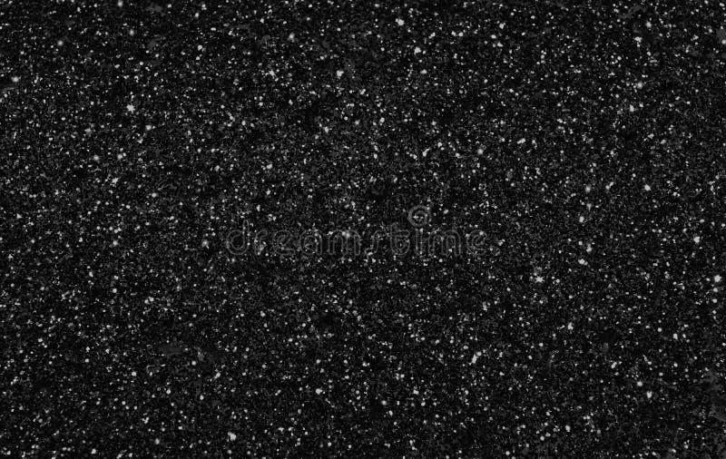 White and gray spot on black background. Like stars shining on night sky stock image