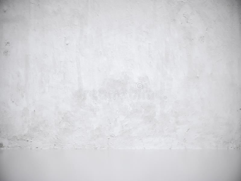 White Gray Stucco Concrete Wall and Floor Copy Space Background. 3d rendering vector illustration