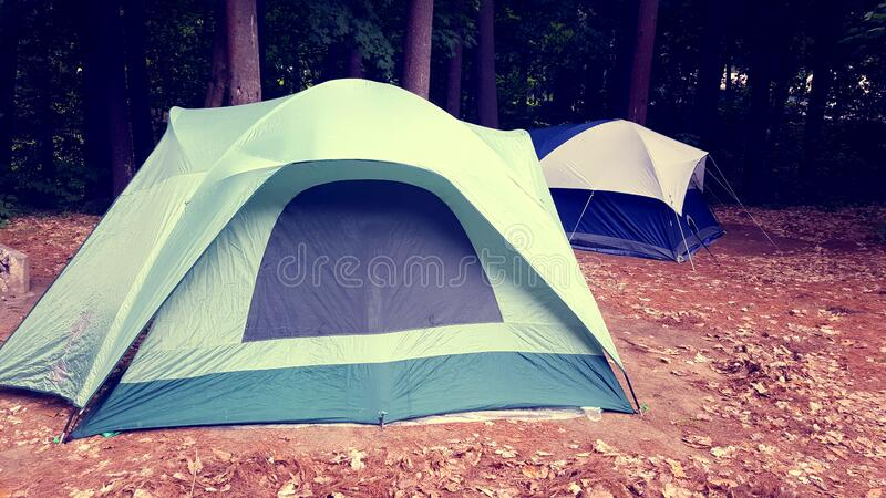 White Green and Black Outdoor Tent stock photos