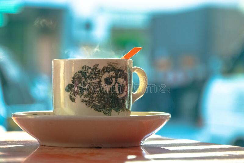 White And Green Ceramic Mug On White Ceramic Plate Free Public Domain Cc0 Image