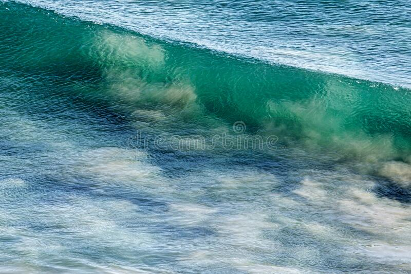 White and Green Clear Wave stock photography