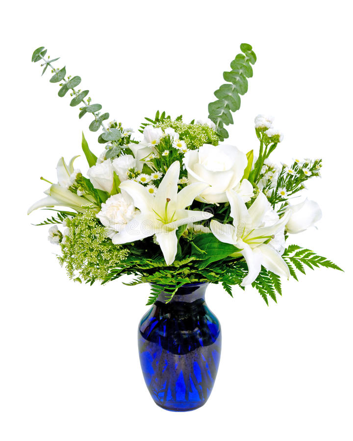 Download White And Green Flower Arrangement Centerpiece Stock Photo - Image: 25457798