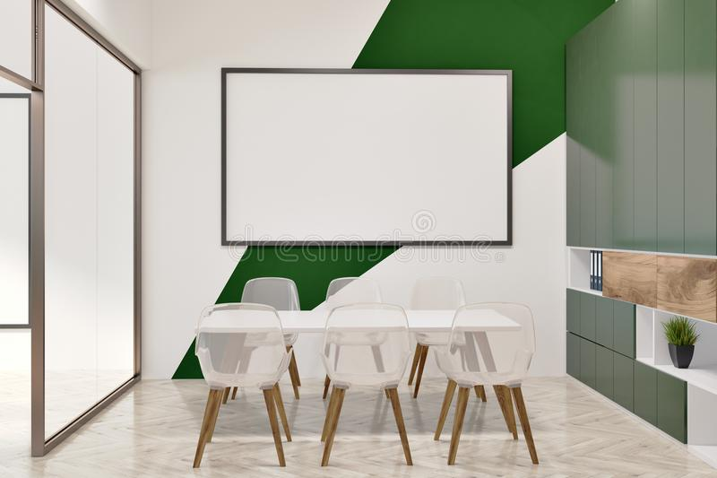 White And Green Office Conference Room, Whiteboard Stock ...