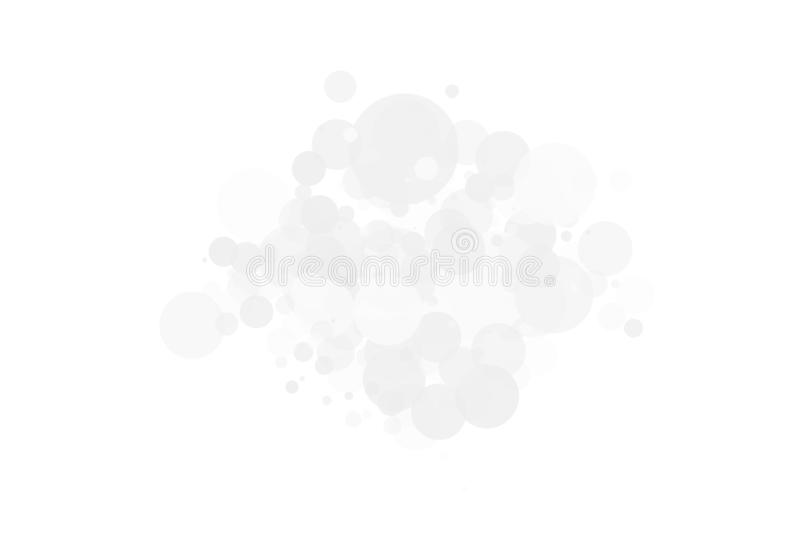 White-grey background. Light texture with bokeh effect. Scalable vector graphics. Delicate, elegant pattern. With circles of different size, degree of royalty free illustration