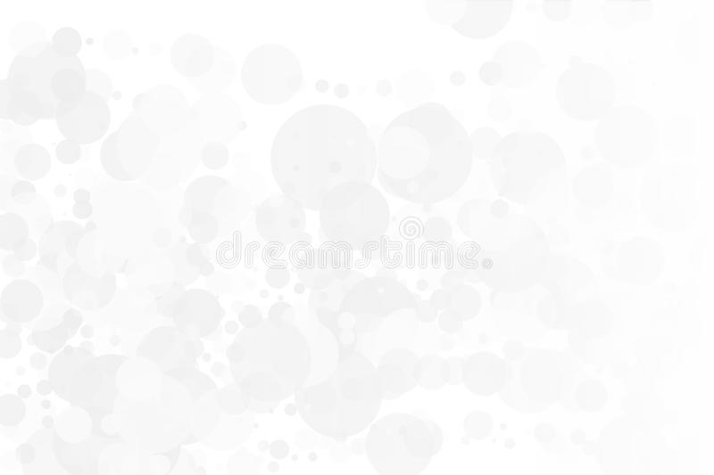 White-grey background. Light texture with bokeh effect. Scalable vector graphics. Delicate, elegant pattern. With circles of different size, degree of vector illustration