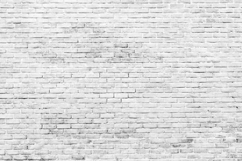 White and grey brick wall texture background with space for text. White bricks wallpaper. Home interior decoration. Architecture stock illustration