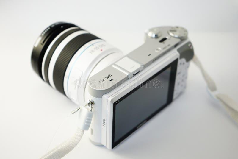 White and Grey Bridge Camera stock photo