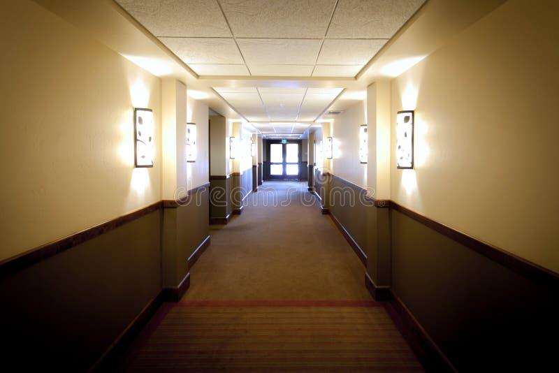 White Grey Hallway stock image