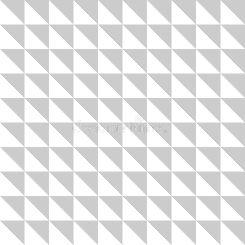 White and grey triangle seamless pattern. Vector illustration. royalty free illustration
