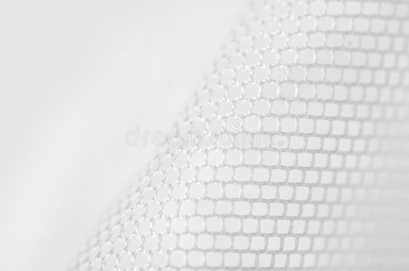 White grid fabric clothing texture. Textile blur background royalty free stock image