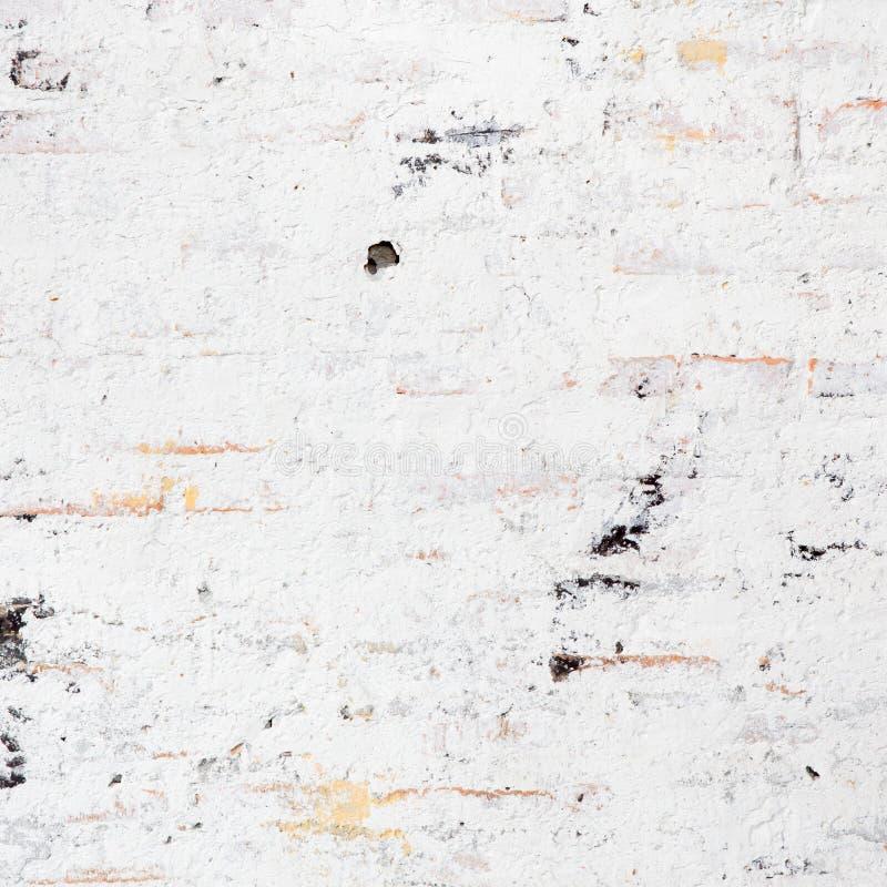 White grunge brick wall royalty free stock images