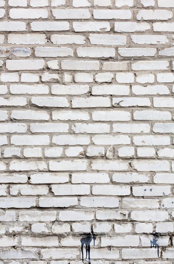 White grunge brick wall background stock photos