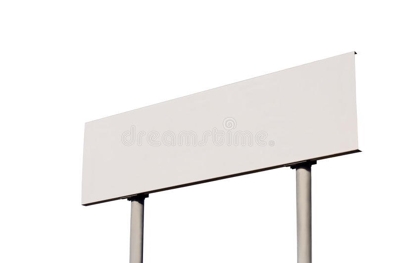 Download White Guide Post Road Sign Isolated Signpost Stock Photo - Image: 6520764
