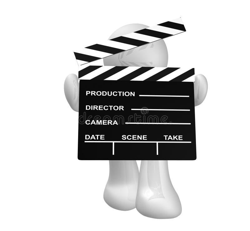 Download White Guy Icon Holding A Film Scene Clap Board Stock Illustration - Image: 8450390