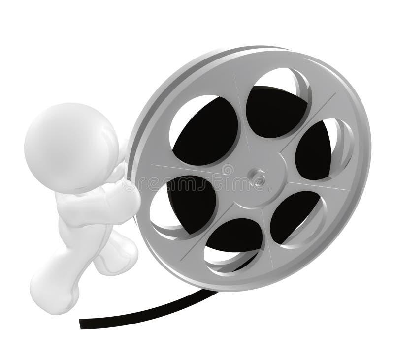 Download White Guy Icon Rolling Film Reel Stock Illustration - Illustration: 8450412