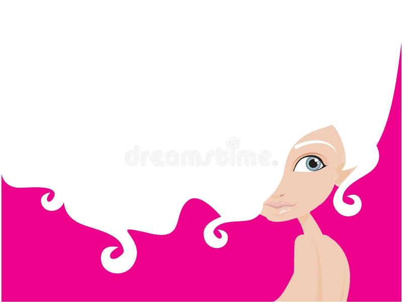 White hair stock illustration