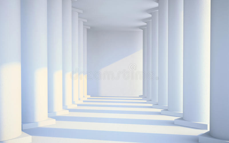 Download White hall with columns stock illustration. Image of clean - 27014305