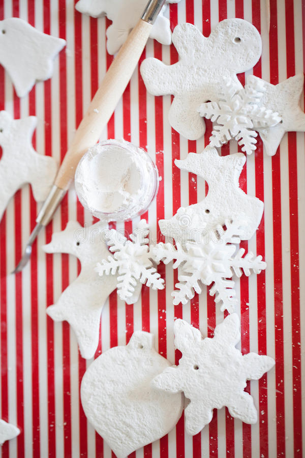 White handmade christmas decoration. Beauty white handmade christmas decoration stock image