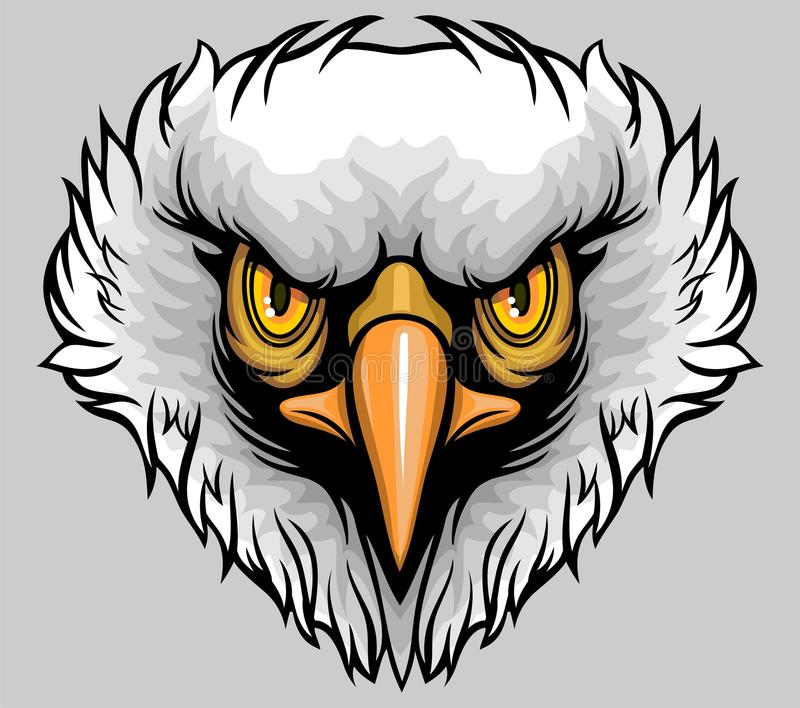 White headed eagle royalty free illustration