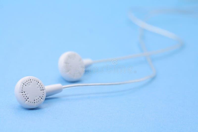 White headphones stock photo