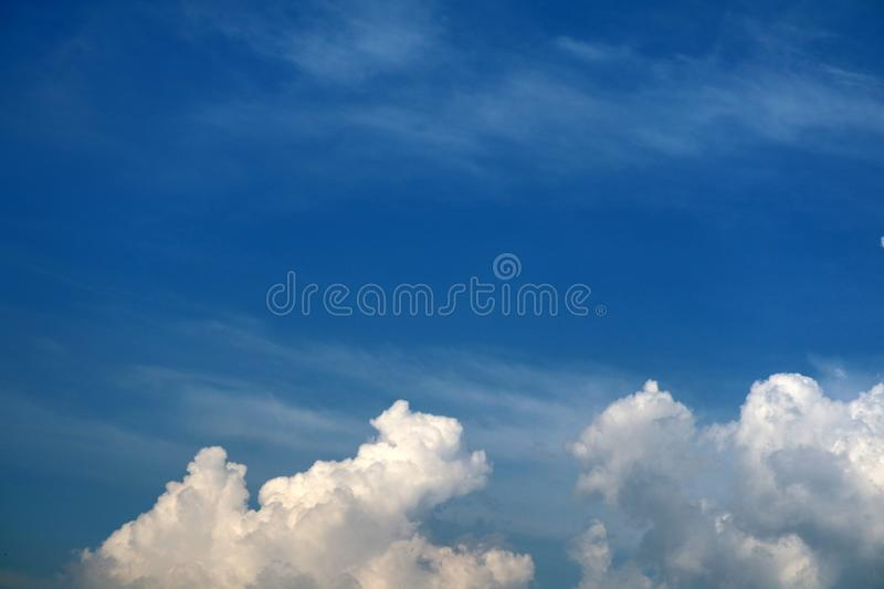 white heap cloud in tropical and blue sky soft cloud royalty free stock photo