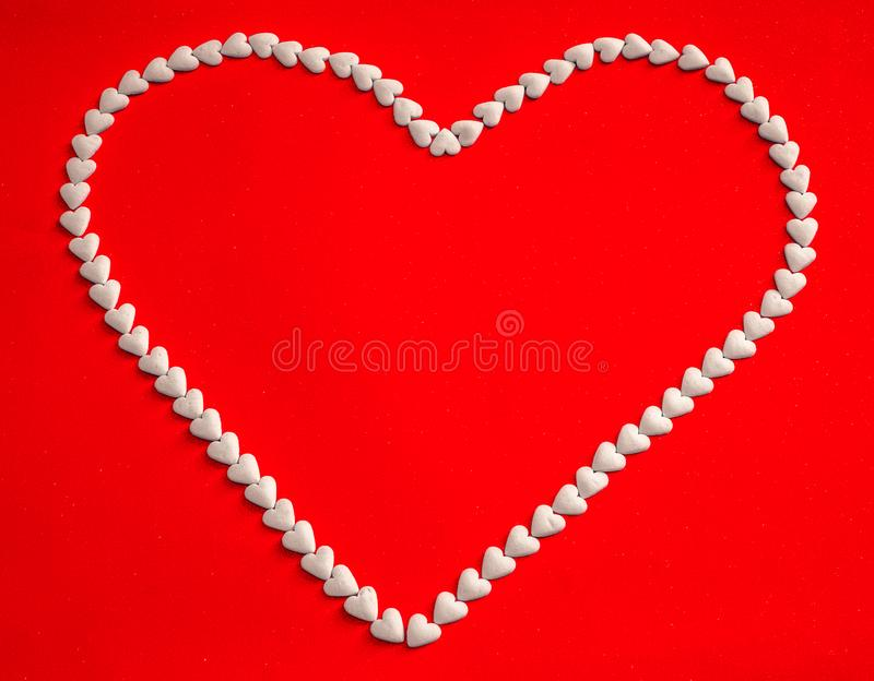 The white heart royalty free stock image