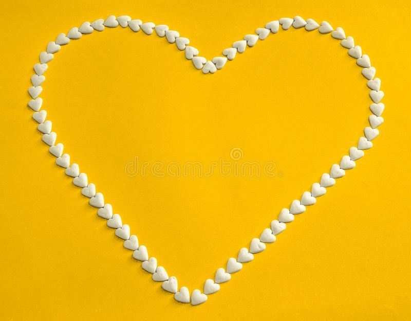 The white heart stock image