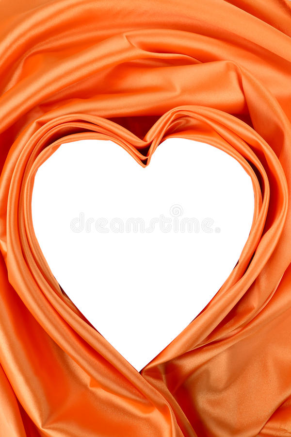 Download White Heart Of Orange Silk Royalty Free Stock Images - Image: 38560269