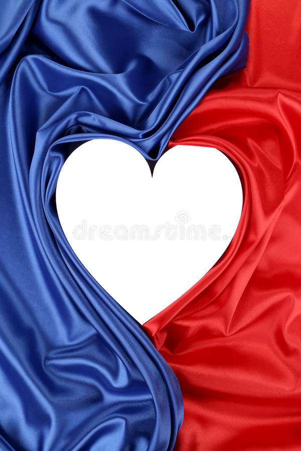 Download White Heart Of Red And Blue Silk Royalty Free Stock Image - Image: 38559906