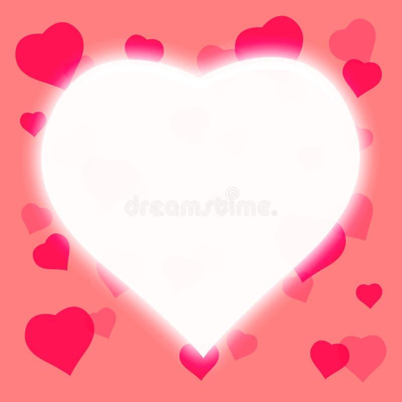 White heart shape background. Pink color tone stock illustration