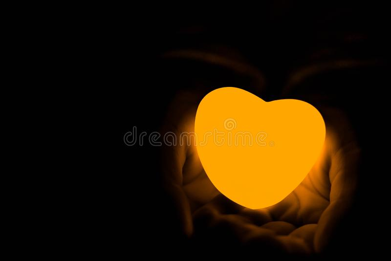 Specially prepared heart for Valentine`s Day stock images