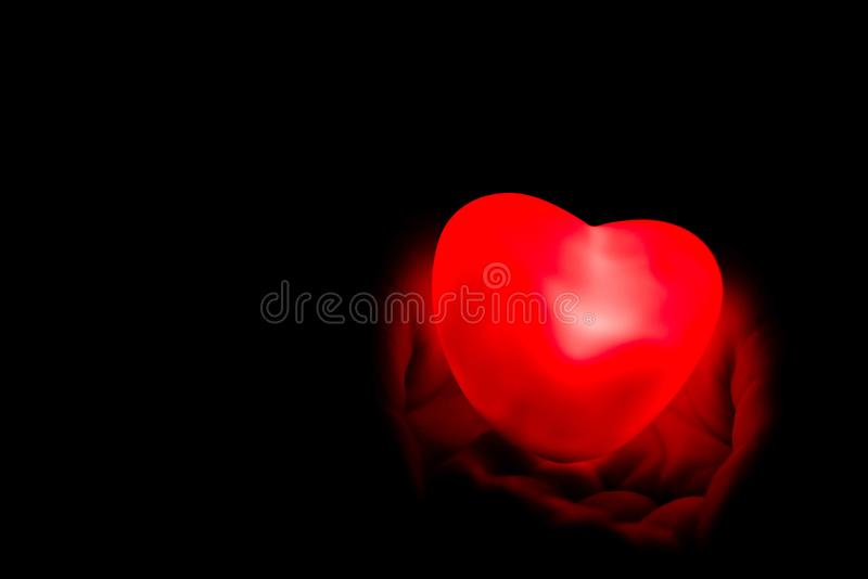 Specially prepared heart for Valentine`s Day stock photography