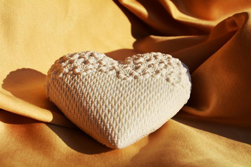 White heart, Valentine concept royalty free stock images